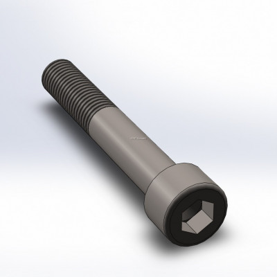 Bolt, M10, 65mm long, with fine thread (1.5), Allen