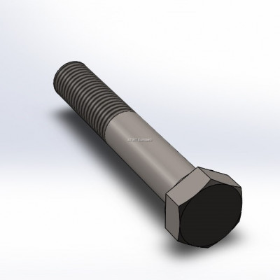 Bolt, M24, 130mm long, with coarse thread (3)