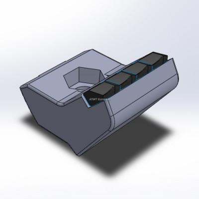 Hammer fitting to Husmann, HF V/VI/Z, with 4 carbide tips