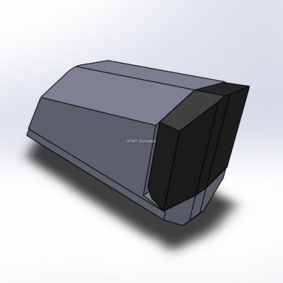 Weld on block with carbide tip 43 x 19 x 30
