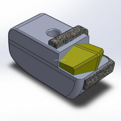 Hammer fitting to Seppi M*, with 1 carbide tip tough quality and layers of CGP, left hammer