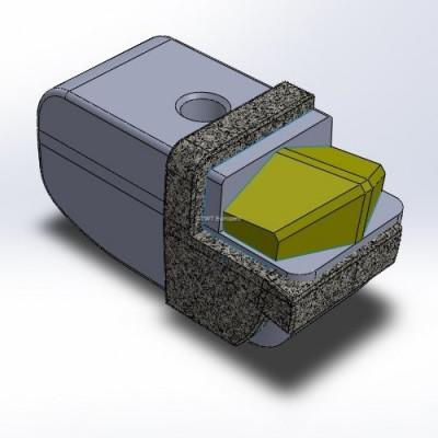 Hammer fitting to Seppi M*, with 1 carbide tip tough quality and layers of CGP, right hammer
