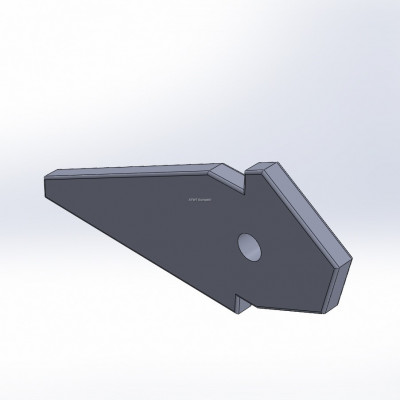 Cutting bar fitting to Komptech, Crambo, with 2 layers of CGP
