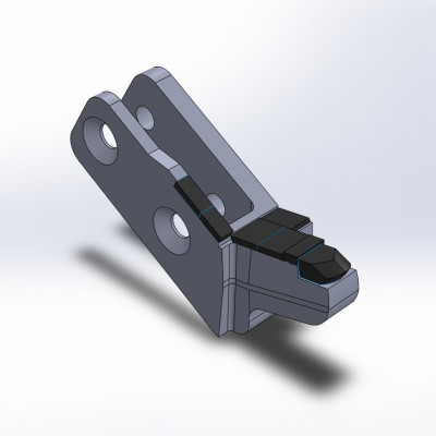 Side cutter fitting to Willibald, MZA en UZ, with 7 carbide tips, right